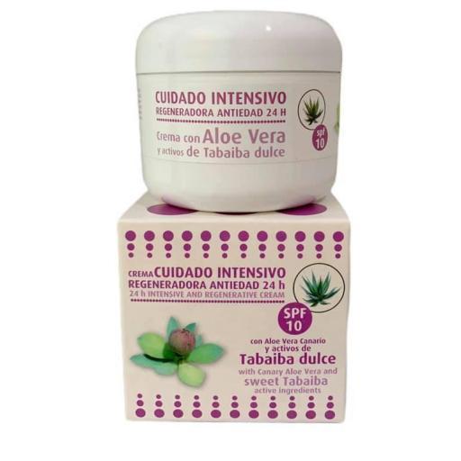 Crema facial regeneradora con aloe vera y activos de tabaiba dulce FPS10 (120ml)