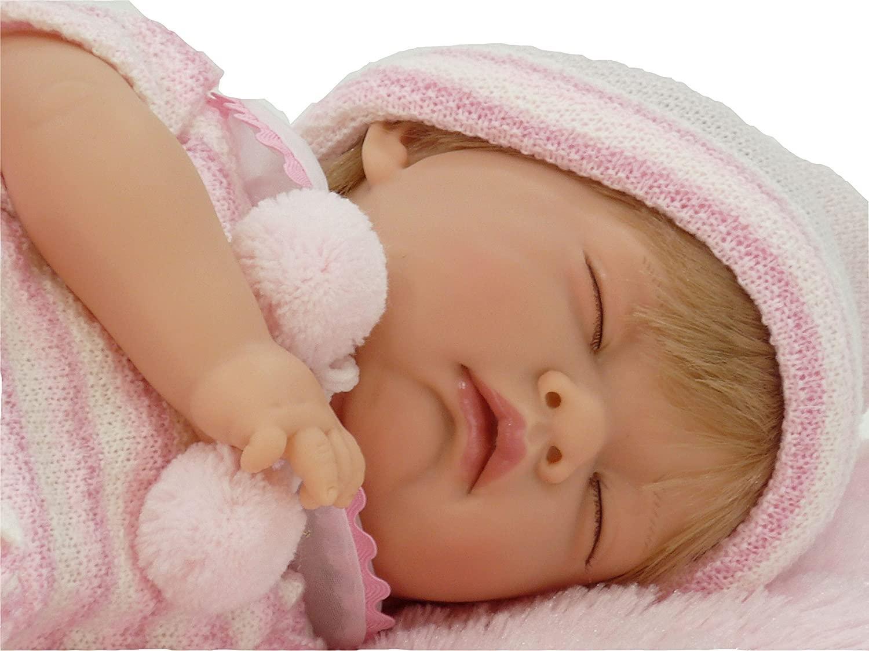 Muñeca Reborn Dormida Nines Artesanal (Mi Bebito)