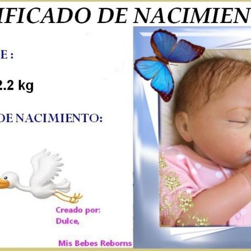 Certificado de Nacimiento Gratuito de LUCIA