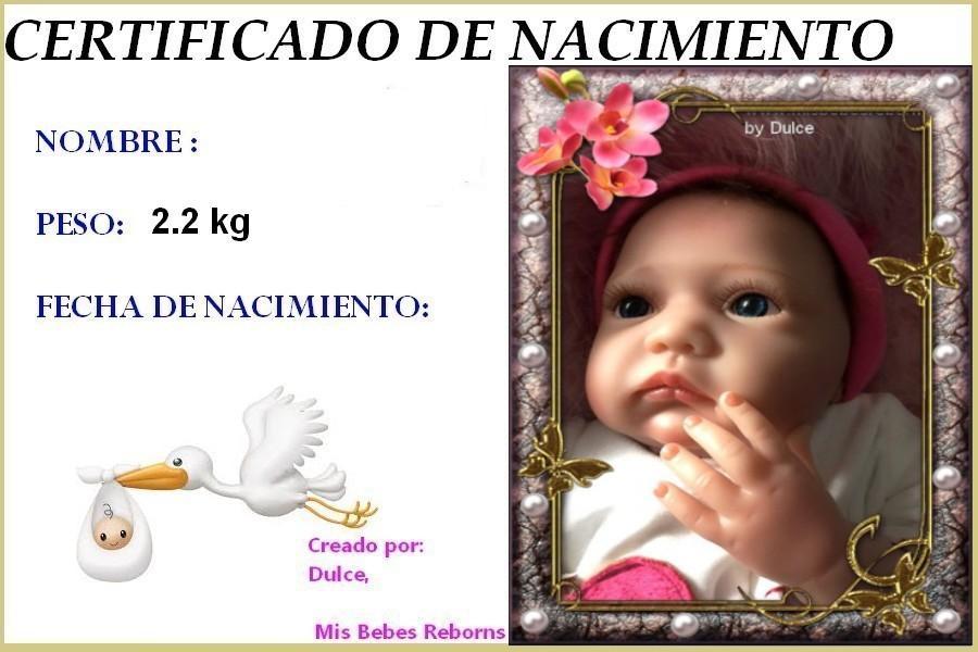 Certificado de Nacimiento Gratuito de MARTINA DESPIERTA