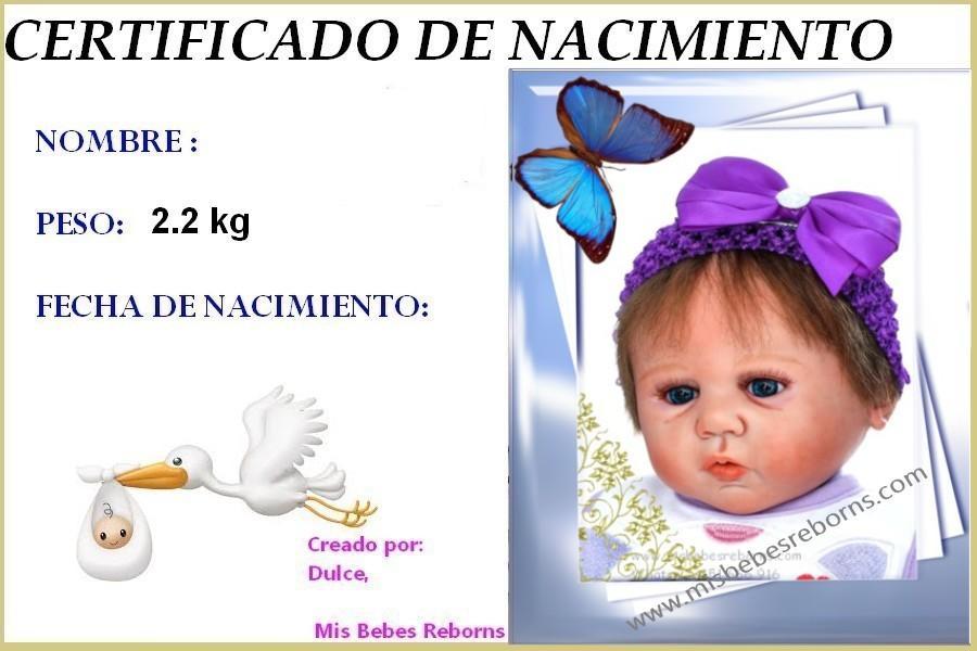 Certificado de Nacimiento Gratuito de MATILDA