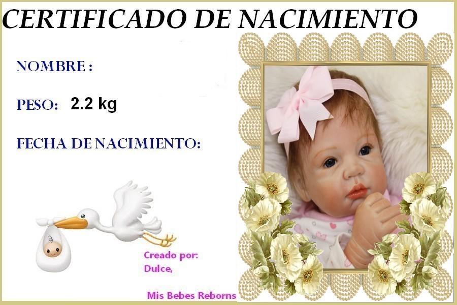 Certificado de Nacimiento Gratuito de REBECA