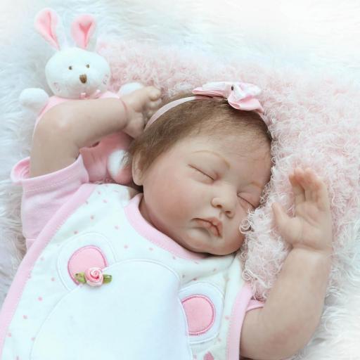 Muñeca Reborn Articulada Dormida; AINOA