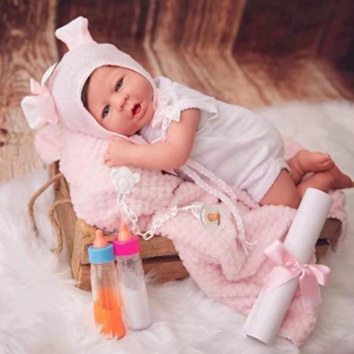 Bebe Reborn 48cm 1,8 kg pliegues y rojeces,. [2]