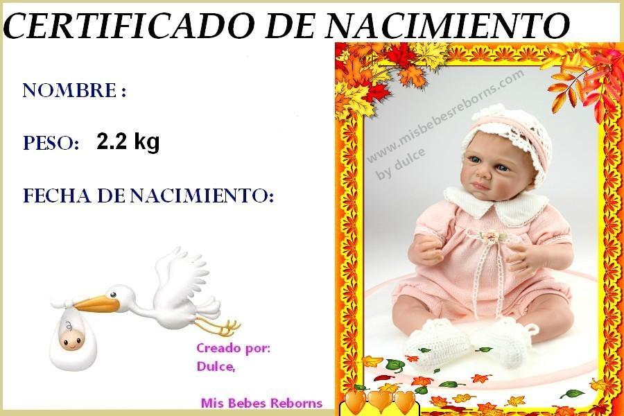 Certificado de Nacimiento Gratuito de NADIA