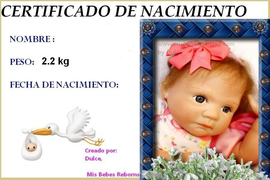 Certificado de Nacimiento Gratuito de TATIANA