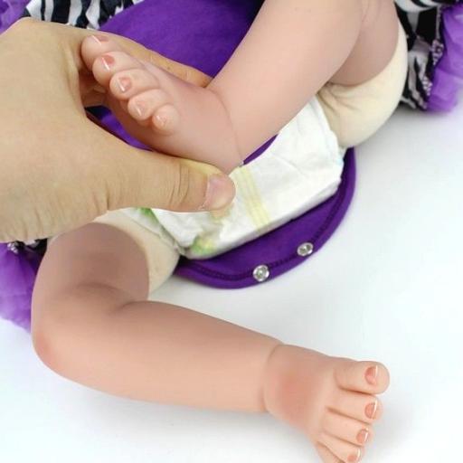 Muñeca Reborn Articulada  Vinilo Siliconado: VIOLETTA [3]