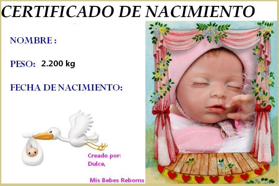 Certificado de Nacimiento Gratuito de SOFIA