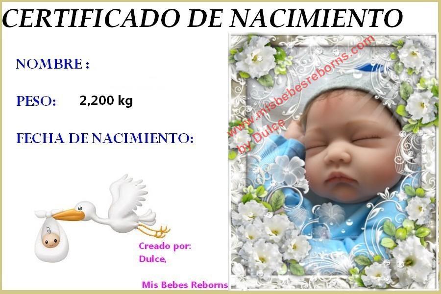 Certificado de Nacimiento Gratuito de MARCO
