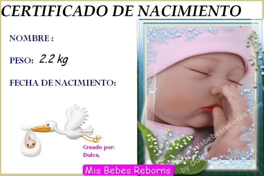 Certificado de Nacimiento Gratuito de MARTINA