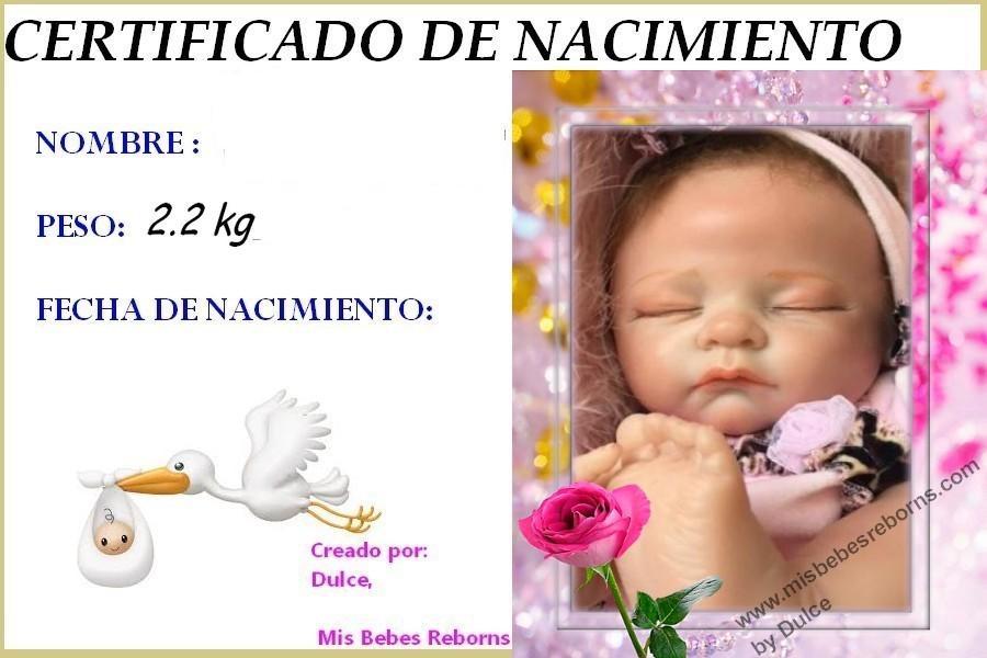 Certificado de Nacimiento Gratuito de CLAUDIA
