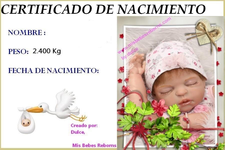 Certificado de Nacimiento Gratuito de ALBA