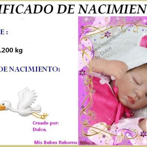 Certificado de Nacimiento Gratuito de VALENTINA