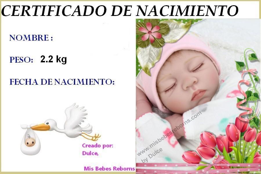Certificado de Nacimiento Gratuito de CHLOE
