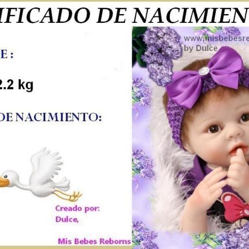 Certificado de Nacimiento Gratuito de VIOLETA