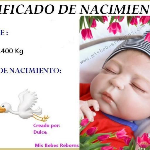 Certificado de nacimiento gratuito de SAMUEL