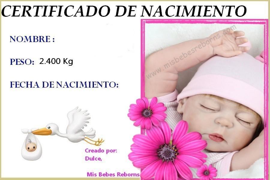 Certificado de nacimiento gratuito de NORA