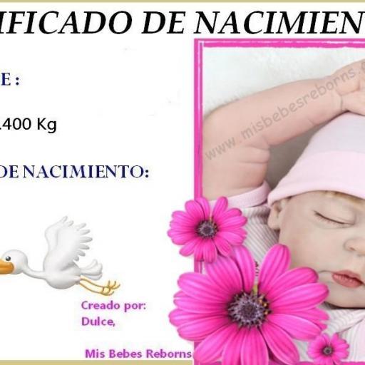 Certificado de nacimiento gratuito de NORA [0]