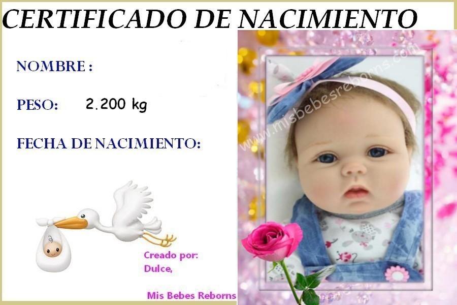Certificado de Nacimiento Gratuito de Adele
