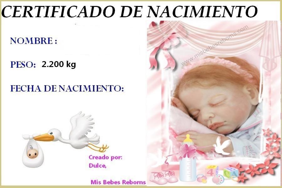 Certificado de Nacimiento Gratuito de NEREA