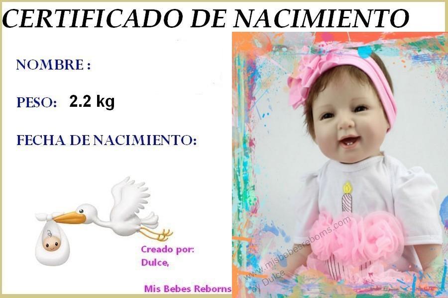 Certificado de Nacimiento Gratuito de ARLET