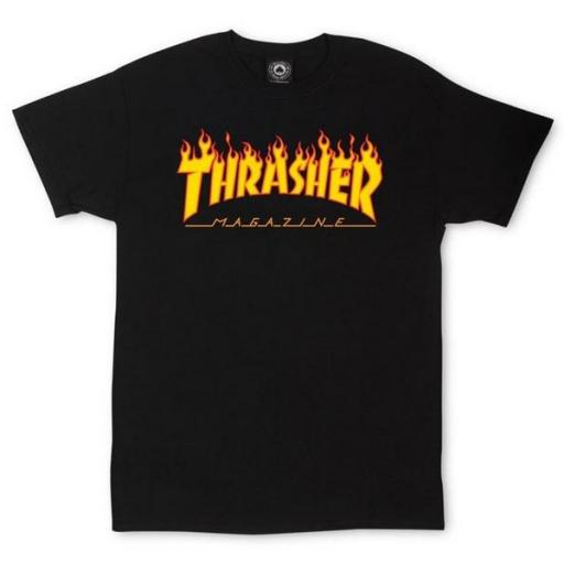 THRASHER Camiseta Flame Black