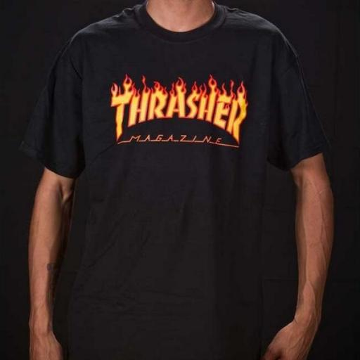 THRASHER Camiseta Flame Black [1]