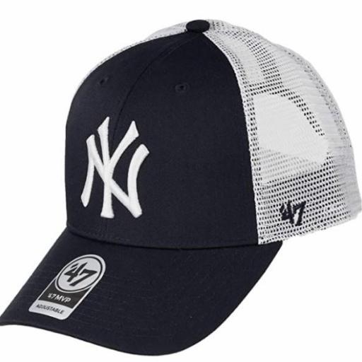 47 BRAND Gorra New York Yankees White Navy [0]