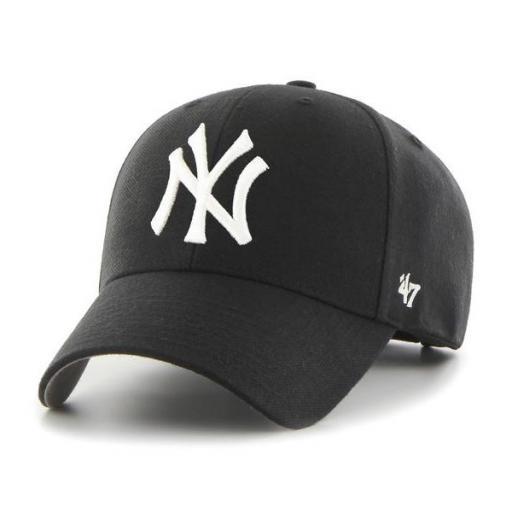 47 BRAND Gorra MLB New York Yankees 47 MVP Black