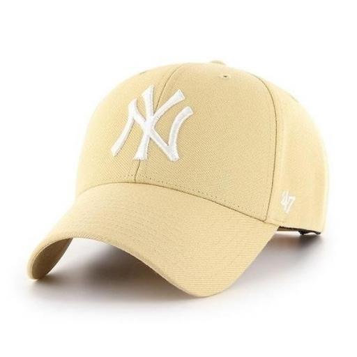 47 BRAND Gorra MLB New York Yankees 47 MVP Light Gold
