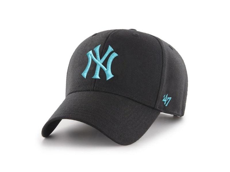 47 BRAND Gorra MLB New York Yankees 47 MVP Snapback Black Blue