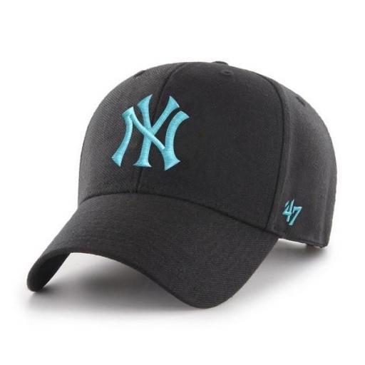 47 BRAND Gorra MLB New York Yankees 47 MVP Snapback Black Blue [0]