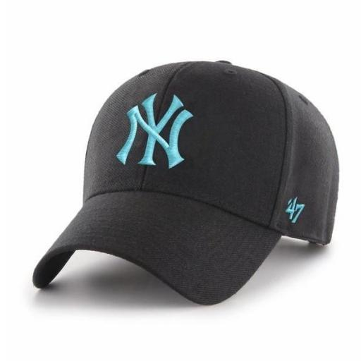 47 BRAND Gorra MLB New York Yankees 47 MVP Snapback Black