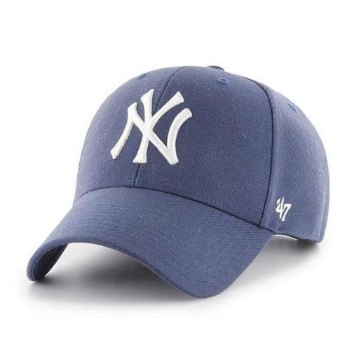 47 BRAND Gorra MLB New York Yankees 47 MVP Snapback Light Navy