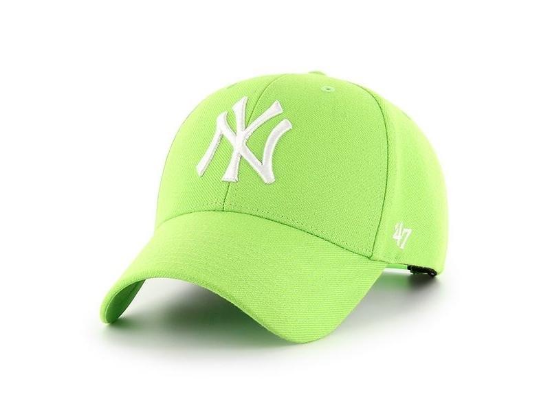 47 BRAND Gorra MLB New York Yankees 47 MVP Snapback Lime