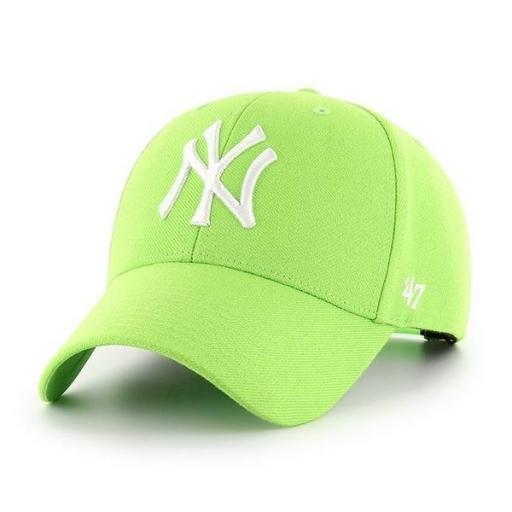 47 BRAND Gorra MLB New York Yankees 47 MVP Snapback Lime [0]