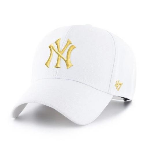 47 BRAND Gorra MLB New York Yankees 47 MVP Snapback White Yellow