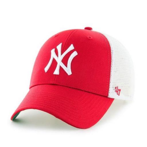 47 BRAND Gorra MLB New York Yankees Branson 47 MVP Red White