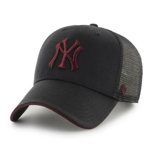 47 BRAND Gorra MLB New York Yankees Dagwood Mesh 47 MVP Black Maroon