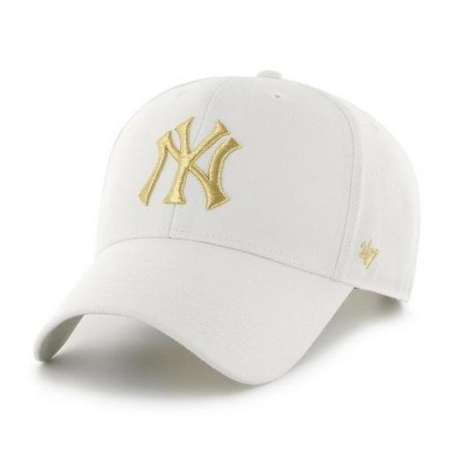 47 BRAND Gorra MLB New York Yankees Metallic Snap 47 MVP White