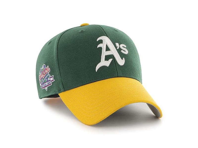 47 BRAND Gorra MLB Oakland Athletics Sure Shot Snapback TT 47 MVP Dark Green