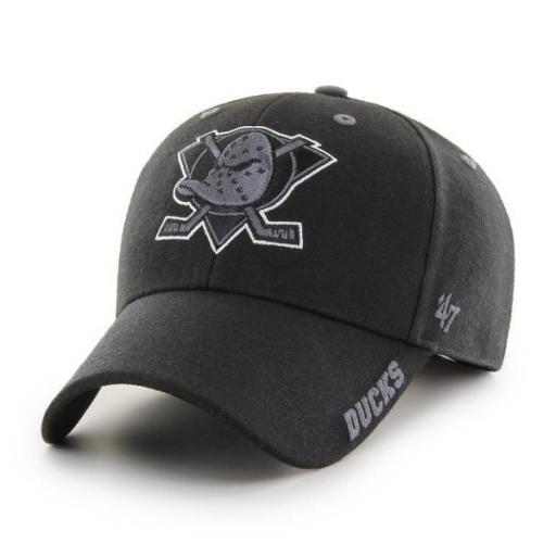 47 BRAND Gorra NHL Anaheim Ducks Defrost 47 MVP Black
