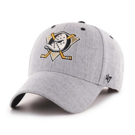 47 BRAND Gorra NHL Anaheim Ducks Storm Cloud 47 MVP Charcoal Grey