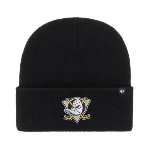 47 BRAND Gorro Anaheim Ducks Haymaker Cuff Knit Beanie Black