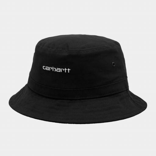 CARHARTT Bucket Script Hat Black White