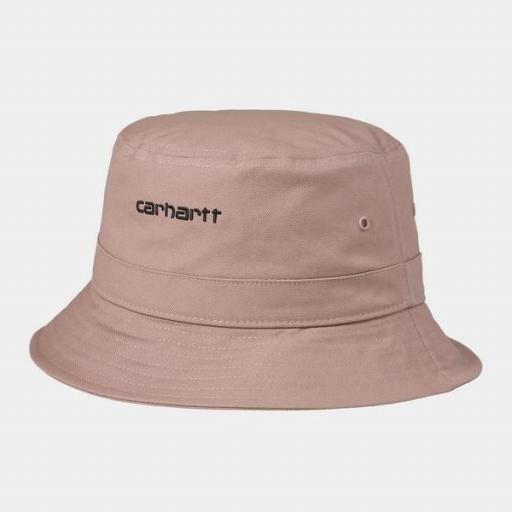 CARHARTT Bucket Script Hat Earthy Pink Black