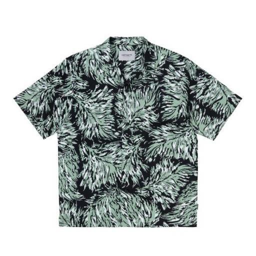 CARHARTT Camisa S/S Hinterland Print Black