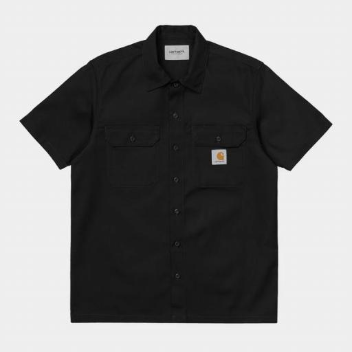 CARHARTT Camisa S/S Master Shirt Black