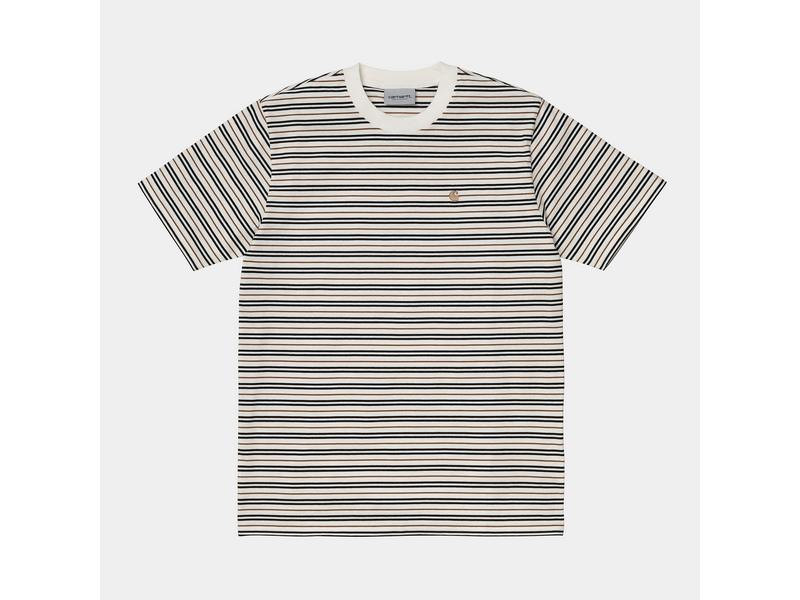 CARHARTT Camiseta S/S Akron T-Shirt Stripe Wax