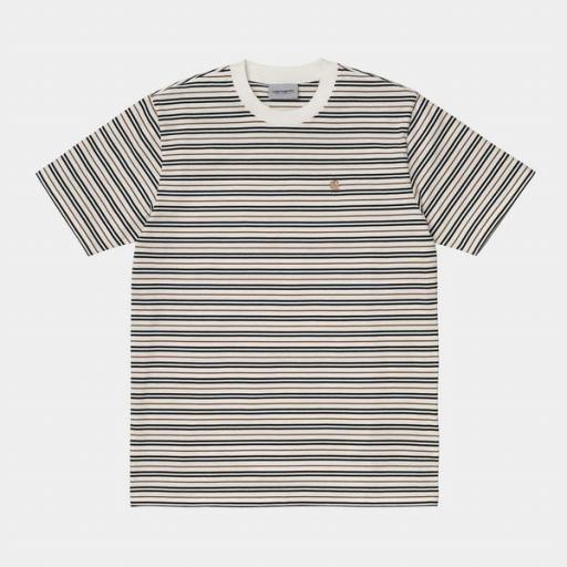 CARHARTT Camiseta S/S Akron T-Shirt Stripe Wax [0]